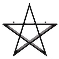 Mad Moonshine Regal Black Pentagram-Gothic-Mystic-Magie-schwarz-Stern