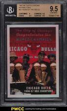 1997 Topps Chrome Refractor Bulls Champions w/ Michael Jordan #51 BGS 9.5 GEM