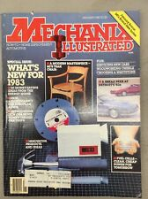 Mechanix Illustrated Magazine January 1983 What's New / Fuel Cells / Teak Chair
