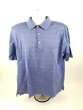 Peter Millar Mens L Short Sleeve MultiColor Striped Polo Style Shirt