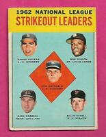1963 TOPPS # 9 DODGERS SANDY KOUFAX  LEADERS VG CARD (INV# C3147)