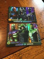 Injustice Team Cards  Series 2 Arcade Game League Of Green & Assassins FOIL