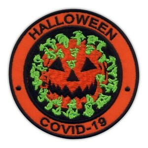 HALLOWEEN - virus as pumpkin Embroidered PATCH/BADGE