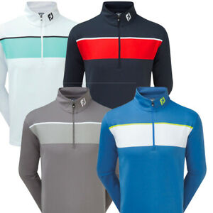 FootJoy Mens Golf Jersey Chest Stripe Chillout Golf Pullover Sweater Jumper