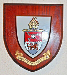 Diocese of Gibraltar wall plaque shield crest coat of arms anglican church