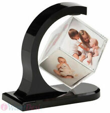 FLOATING-  Rotating - MAGNETIC Photo 3D  Cube Photo Frame