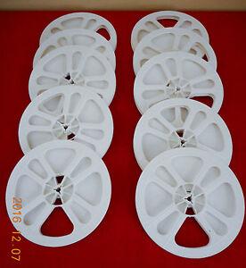 (10) *NEW* REGULAR 8  8mm 400' PLASTIC REELS   (WHITE)