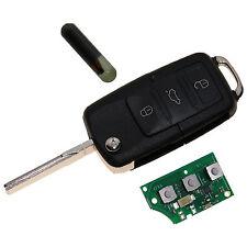 1x3 Tasten Autoschlüssel VW / Skoda / Seat inkl. Elektronik 1J0959753P NEU A18