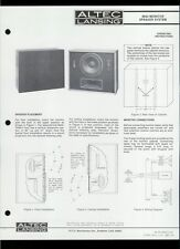 Rare Original Factory Altec 9842 Monitor Speaker System Dealer Sheet Page