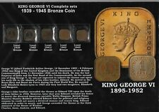 Lot of 5 King George VI Education Coins Card - 1939 - 1945
