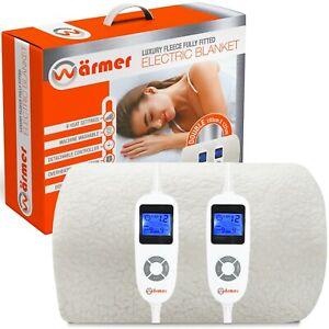 Warmer Electric Blanket Dual Control Body & Feet Zone Fully Fitted Luxury Fleece