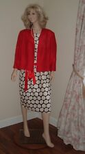 NEW WITH TAGS JACQUES VERT DRESS & BOLERO JACKET RED/CREAM/BLACK SIZE 20 RP £298