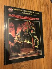 EXC! MONSTROUS COMPENDIUM ANNUAL Vol 3 1996 AD&D 2nd Edition 2166