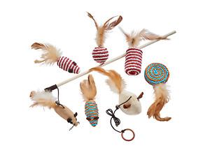 Natürliches 7-teiliges Katzenspielzeug Set in toller Geschenkverpackung Katze