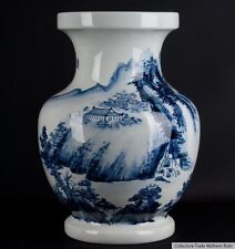 Cina 20. JH. grande-a Chinese Blue & White colonnine vaso-cinese chinois