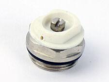 """5X Manual Radiador Toallero calentado sangrado Conector de Válvula de ventilación de aire 1/2"""" (15mm) Blanco"""