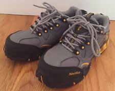 Nautilus Composite #N1850W Safety Work Waterproof Shoes Size 6W Gray Yellow