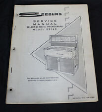 Vtg Seeburg Jukebox Service Manual Ss160 Select O Matic Phonograph Dealer Stock