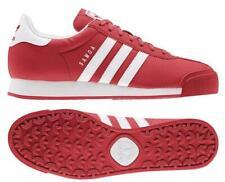 Nuevo adidas Originals Samoa Clásico Zapatillas Cuero Hombre Rojo Todo Tallas