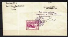 Luxembourg: 1 Franc, Tax Stamp on a 1939 Partial Document (30405)
