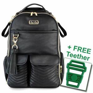 Itzy Ritzy® Boss Diaper Bag Backpack Jetsetter FREE Latte Teether