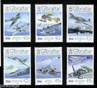 Royal Air Force RAF 90th Anniversary Set of 6 + Souvenir Sheet MNH Gibraltar '08