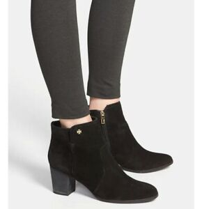 Tory Burch Sabe Suede Ankle Booties Shoes Size 6, $425