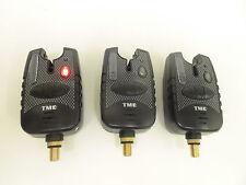 3 x Carp AVVISATORI-Rosso Corsa LED's, Dropbacks, Jack 2.5 mm, led di aggancio