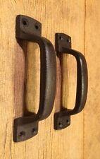 "Cast Iron Gate Handle Barn Door Pull Cast Iron 7"" long  (Set of 2) 0184S-0056AB"