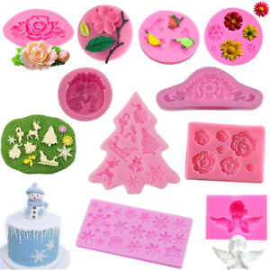 Rose Flower Silicone Fondant Mould Cake Topper Icing Chocolate Candy Baking