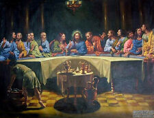 Large Oil painting male portraits THE LAST SUPPER Christ Jesus on canvas 36""