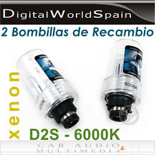 2 BOMBILLAS DE XENON D2S 6000K 35W 12V PARA AUDI,MERCEDES,SEAT,BMW,OPEL,FORD...