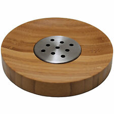 Edelstahl Bambus Holz Seifenschale Seifenablage Seifenhanlter Handseife Ablage