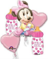 MINNIE MOUSE BABY SHOWER PARTY BALLOONS BOUQUET SUPPLIES DECORATIONS BABY