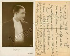 Willy Fritsch (Katowice, 1901 - Amburgo, 1973), interprete canzone Lili Marleen