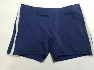 Yumiko Mens Steven Side Stripe TechniFabric Shorts Cosmo Blue Size Medium