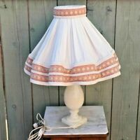 Ancienne lampe en albâtre , art déco vintage