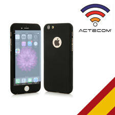 ACTECOM® FUNDA 360  DOBLE NEGRA CON CRISTAL INCLUIDO PARA IPHONE 5 5S SE FULL