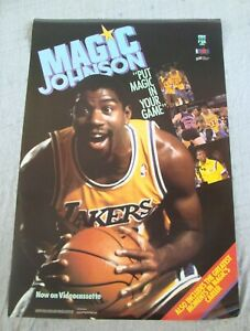 MAGIC JOHNSON video poster PUT MAGIC IN YOUR GAME original video store promo 89
