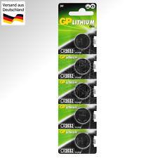 5 GP Lithium CR2032 3 Volt Zelle Knopf Batterie Button Coin Cell 3V DC DL 2032