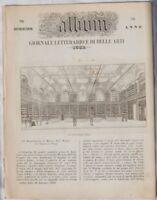 ALBUM ROMA BIBLIOTECA PIANA ANGELO MAI CARDINALE 1854