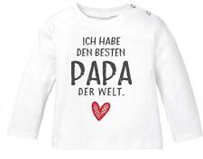 Baby Langarmshirt mit Spruch ich habe den besten Papa der Welt Geschenk