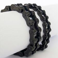 Bracelet Bicycle Chain Motorcycle Stainless Steel Biker Link 1 3 Cm Black Gloss