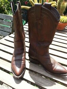 Women's Frye BILLY Pull On 77689 Cowboy Boots Vintage Leather Dark Brown US 6.5B