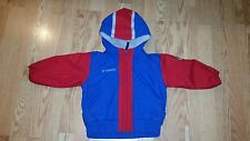 Columbia Boys Winter Coat Jacket 24 Months Red Blue Hooded Zip Up Adorable Cute