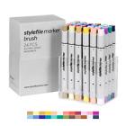 Stylefile Brush Dual-Tip Ink Marker Main B Set 24pc Graffiti Sketch Art Supplies