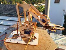 KIT Brazo Robot robotico Mearm Ver1.0 DIY en madera.Para Arduino,Raspberry Pi 3