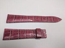 Original Breguet Burgundy Genuine Alligator Watch Strap 21x16mm