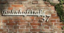 Hausnummer Schriftzug  Straßenname aus Edelstahl