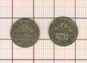Germany 1 kreuzer 1850 et 1858
